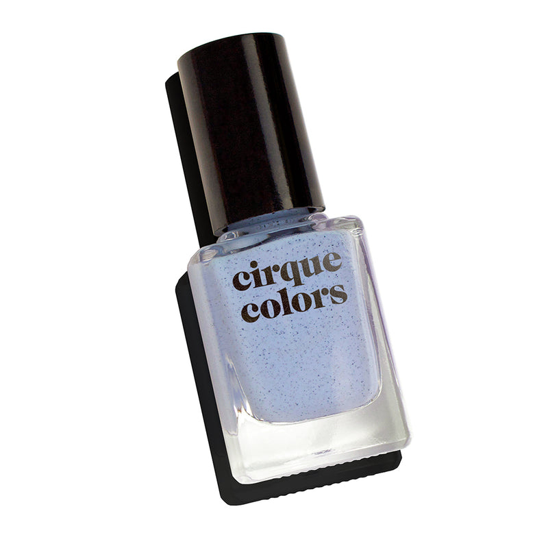 Cirque Colors Robin cornflower blue speckled nail polish