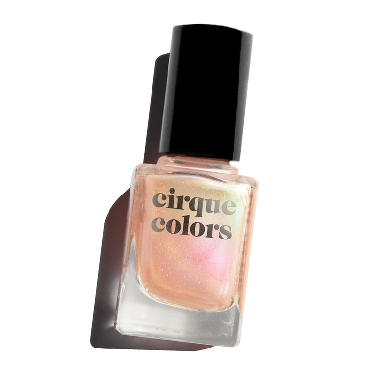 Cirque Colors Cultured pink pearl-inpsired nail polish Resort Collection