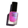 Cirque Colors Jetsetter magenta pink nail polish with mystic blue shimmer Resort Collection