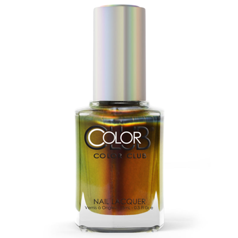 Color Club Burnt Out multichrome nail polish Oil Slick Collection