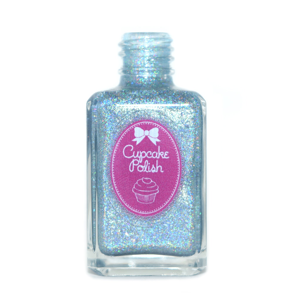 Cupcake Polish All Washed Up sky blue holographic nail polish