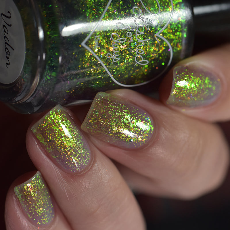 Polished for Days Vadon flakie nail polish topper swatch Enchanted Woods Collection