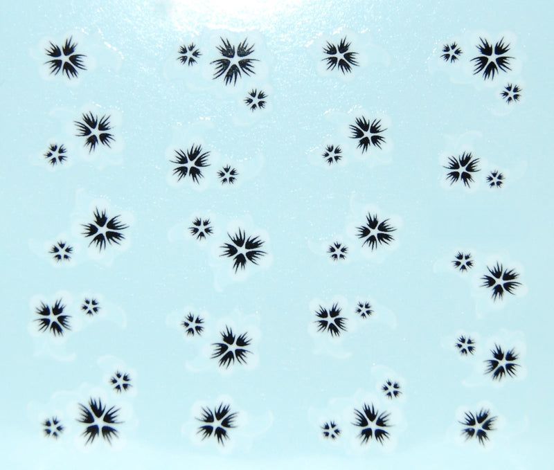 White Flower Water Decals