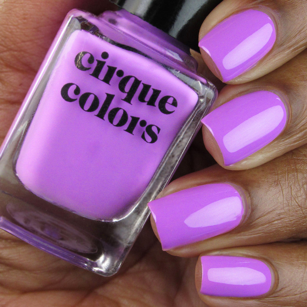 Cirque Colors Euphoria neon purple creme nail polish swatch Vice 2020 Collection