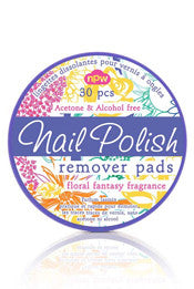 Floral Nail Polish Remover Pads