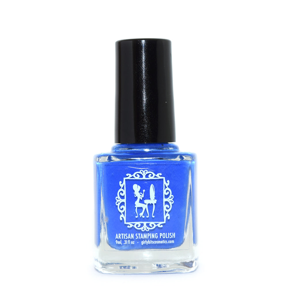Girly Bits Cobalt blue stamping nail polish
