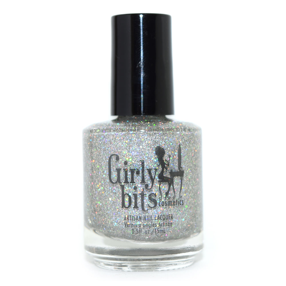 Girly Bits Don't Tangle Your Tinsel holographic glitter nail polish
