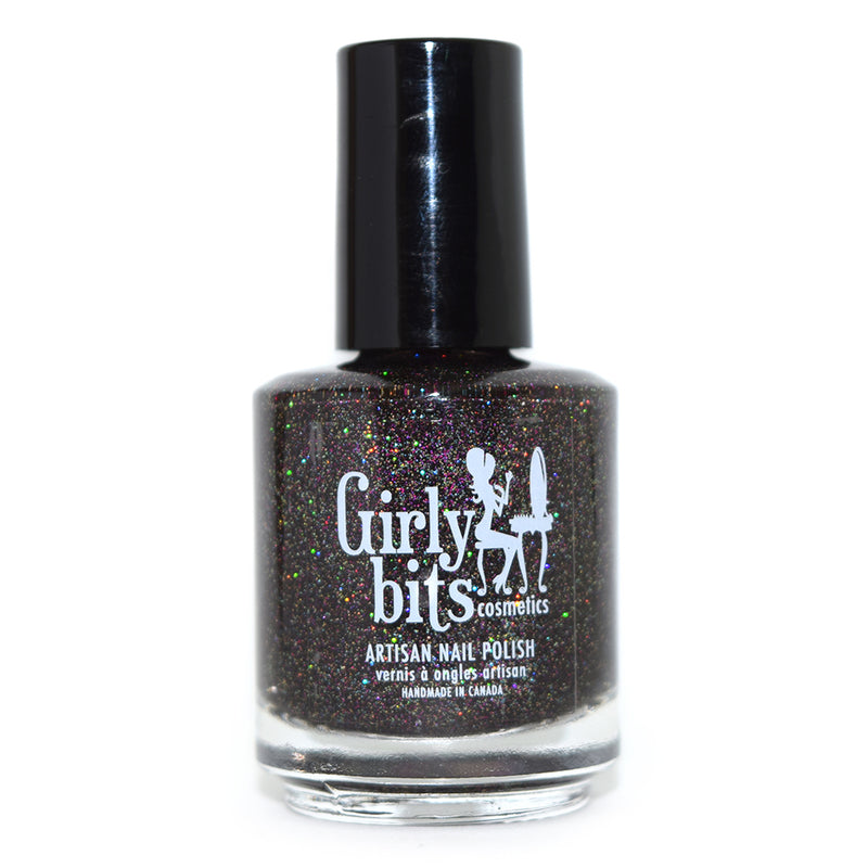 Girly Bits Into the Night black holographic glitter nail polish