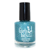 Girly Bits Le Freak blue holographic glitter nail polish