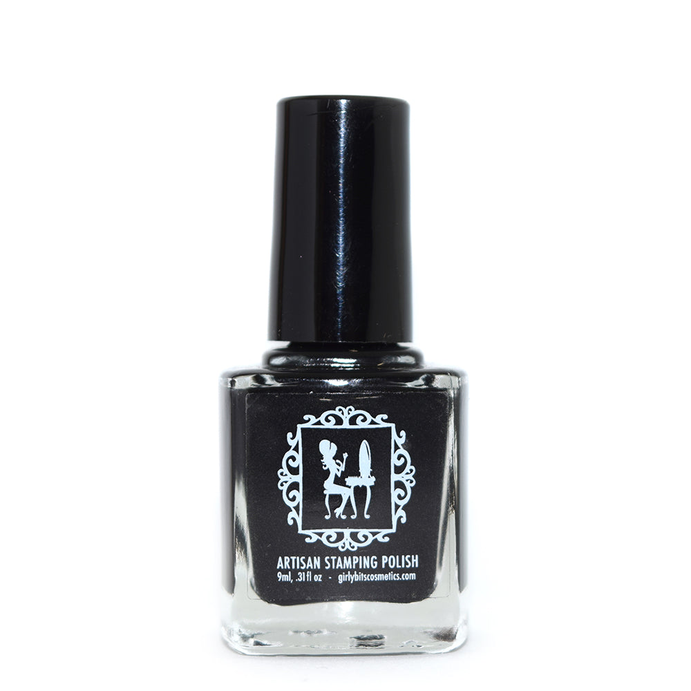 Girly Bits Little Black Dress stamping nail polish