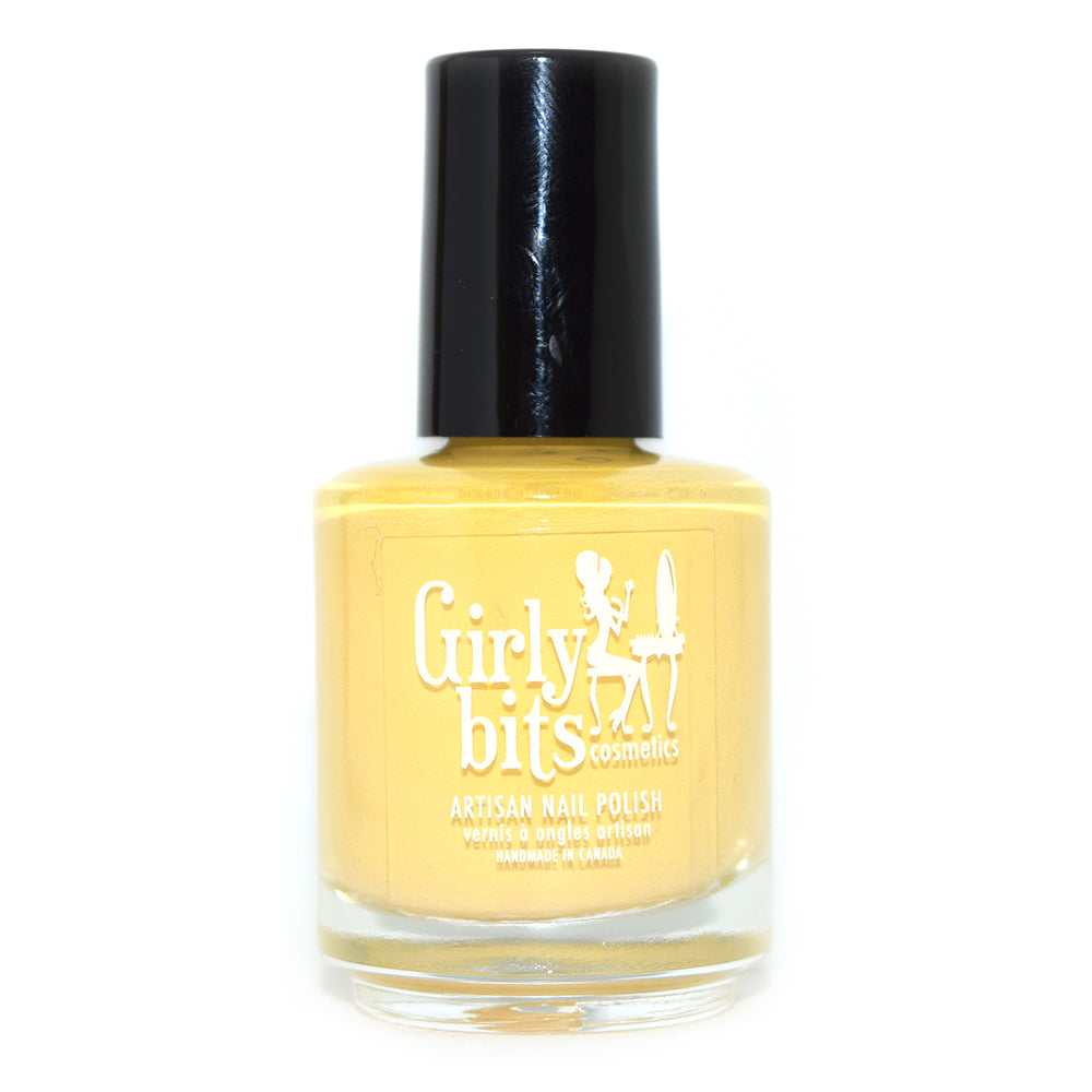 Girly Bits Saffron Saffroff yellow creme nail polish