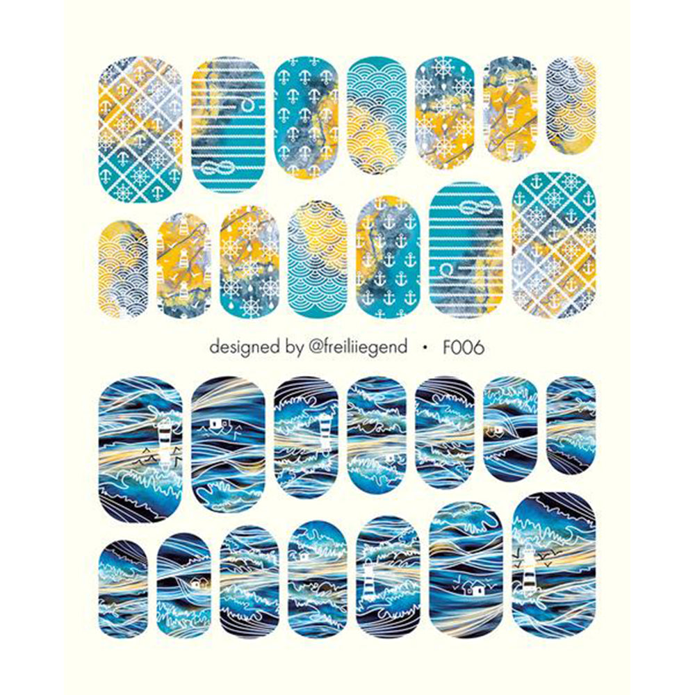 F006 Water Slide Decals