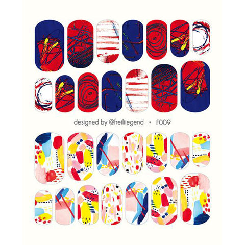 F009 Water Slide Decals