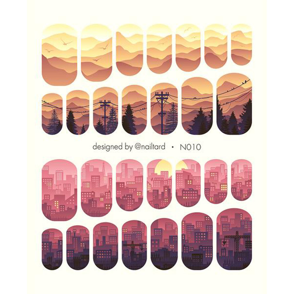N010 Water Slide Decals
