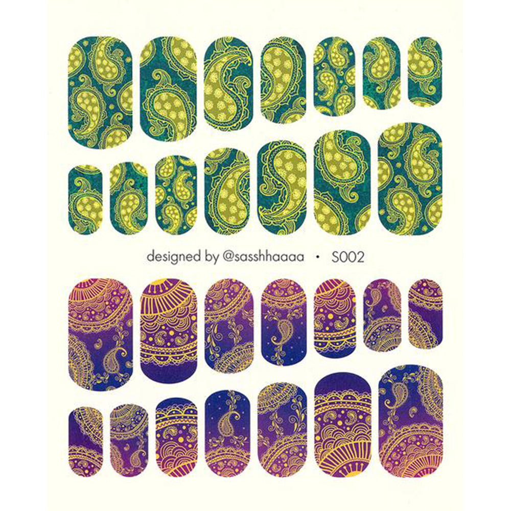 S002 Water Slide Decals