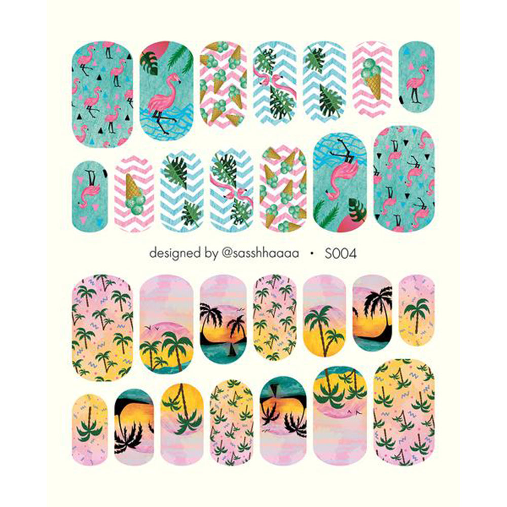 S004 Water Slide Decals