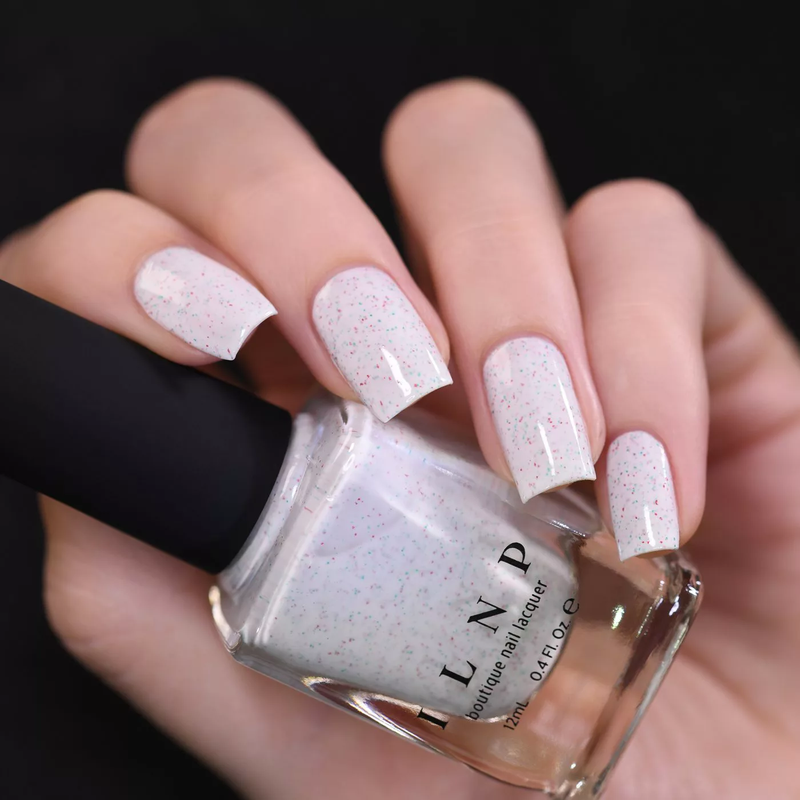 ILNP Christmas Cookie CREAMY WHITE SPECKLED NAIL POLISH