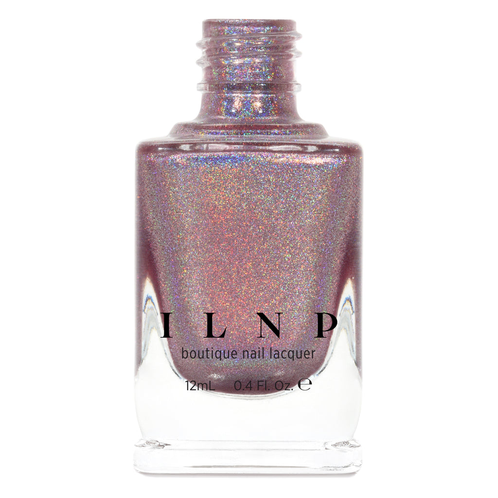 ILNP Get Cozy radiant blush pink ultra holographic nail polish
