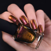 ILNP Greatness (H) RED TO GOLD HOLOGRAPHIC ULTRA CHROME NAIL POLISH