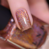 ILNP Caroline glistening rosy copper ultra holographic nail polish swatch macro