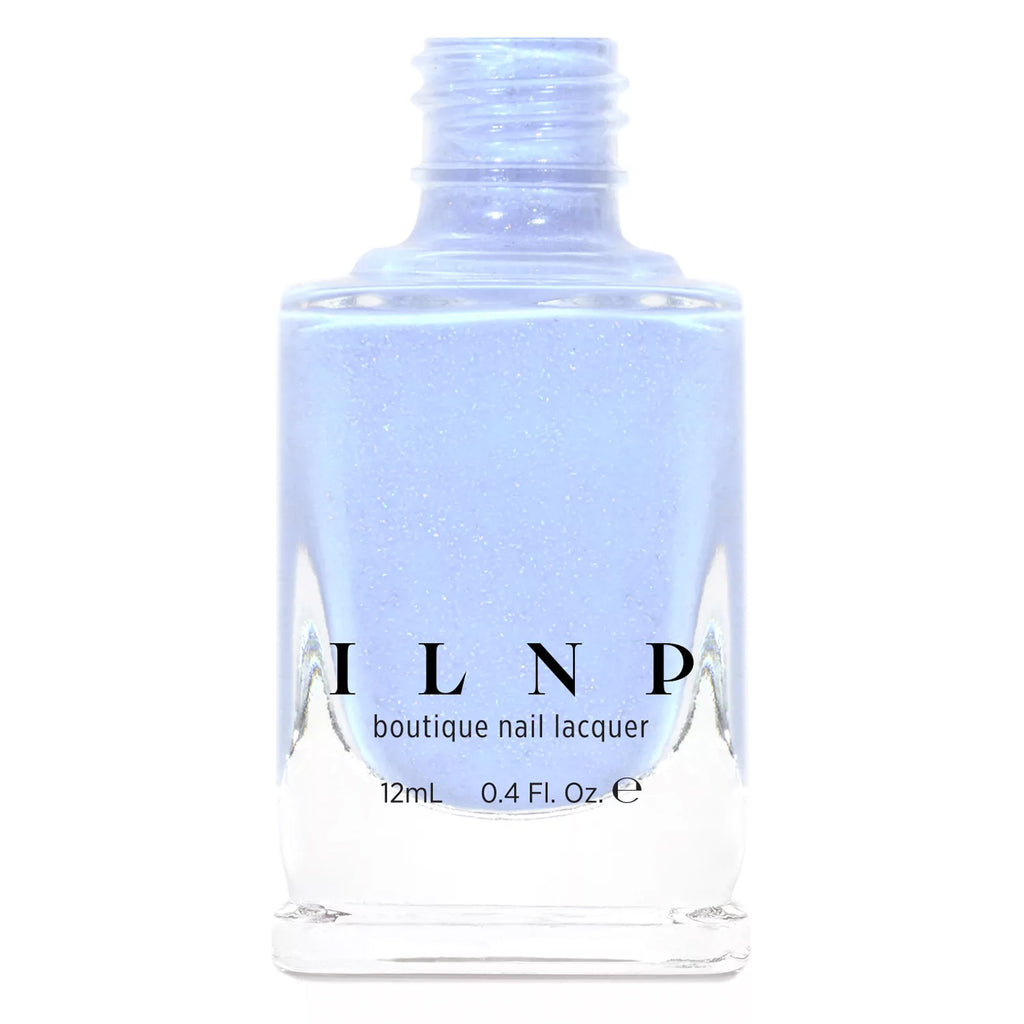 ILNP Carried Away creamy periwinkle holographic nail polish At Sea Collection