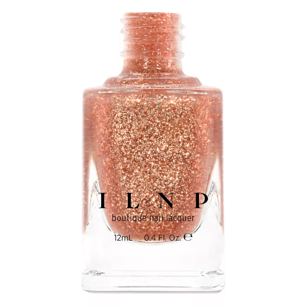 ILNP Compass metallic copper flakie topper nail polish At Sea Collection
