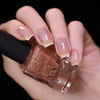 ILNP Compass metallic copper flakie topper nail polish swatch At Sea Collection