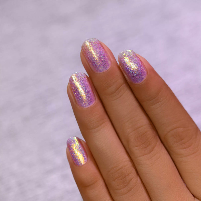 ILNP Downtown IRIDESCENT PURPLE HOLOGRAPHIC JELLY NAIL POLISH swatch