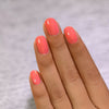 ILNP Riley coral shimmer holographic nail polish swatch At Sea Collection