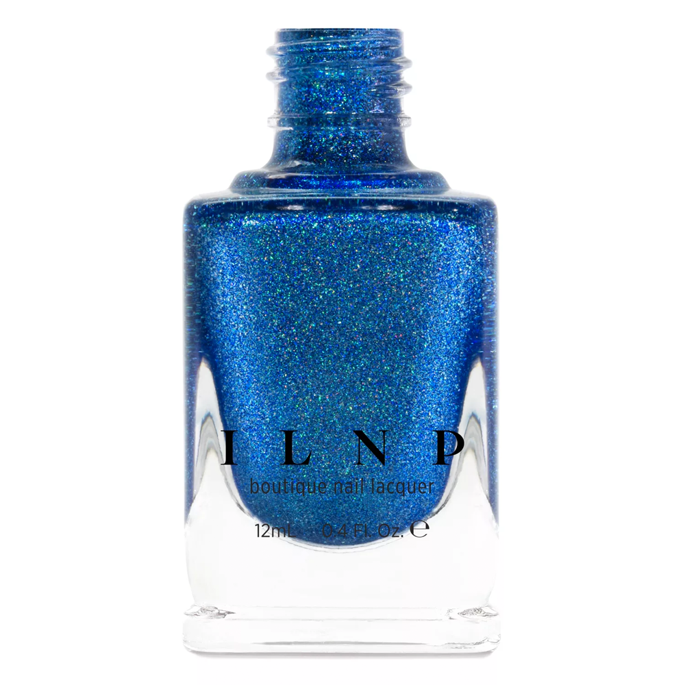 ILNP Serenity pacific blue holographic nail polish