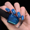 ILNP Serenity pacific blue holographic nail polish swatch