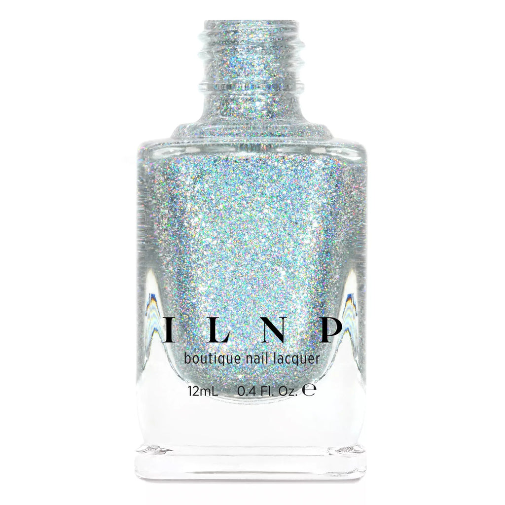 ILNP The Lighthouse intense silver ultra holographic metallic nail polish At Sea Collection
