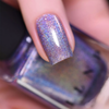 ILNP Utopia light violet ultra holographic nail polish swatch macro
