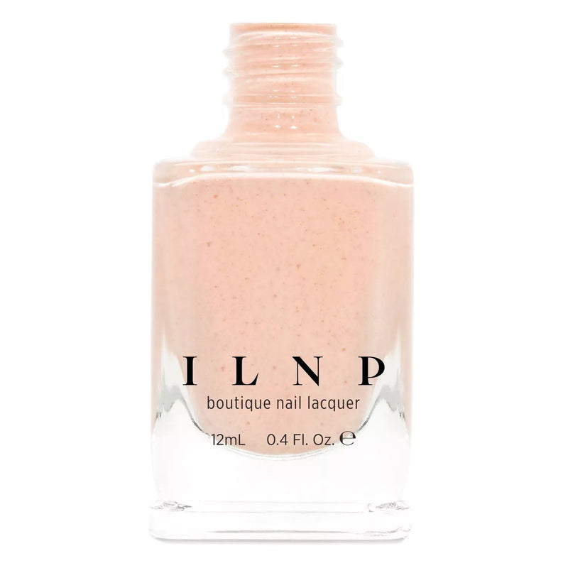 ILNP Cottontail apricot speckled nail polish Hatched Collection