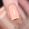 ILNP Cottontail apricot speckled nail polish swatch Hatched Collection
