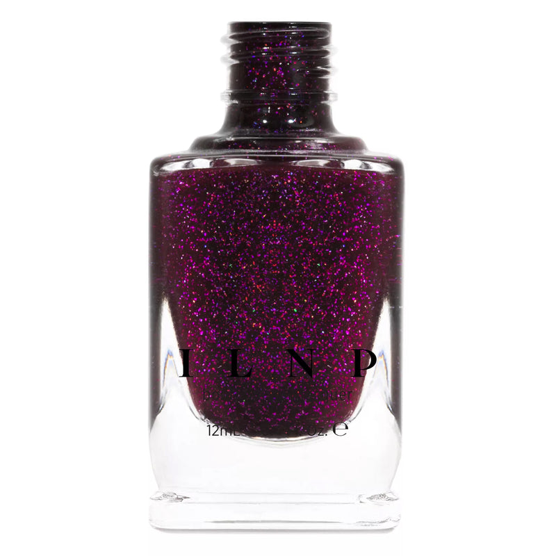 ILNP Madeline dark berry holographic nail polish