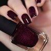 ILNP Madeline dark berry holographic nail polish swatch