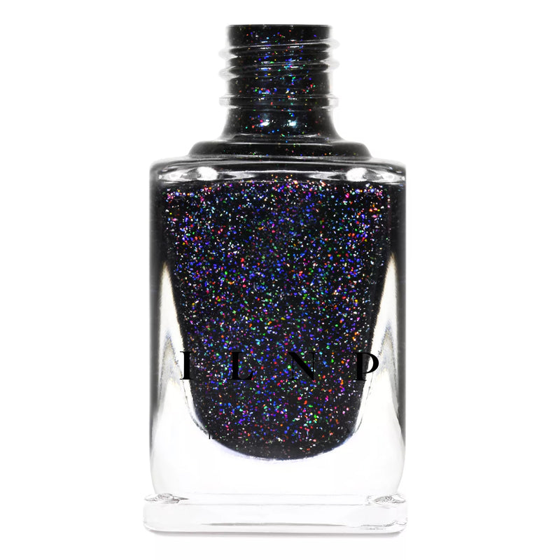 ILNP Party Bus black holographic shimmer nail polish