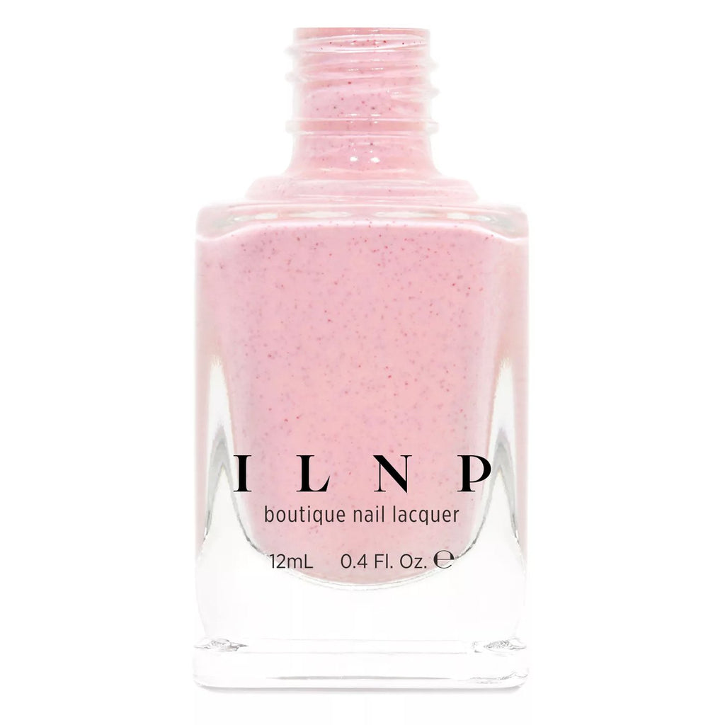 ILNP Sunday pastel pink speckled nail polish Hatched Collection