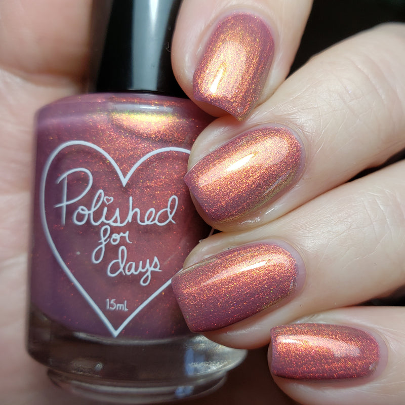 Polished for Days Briar Rose shimmer nail polish swatch Imagination Collection