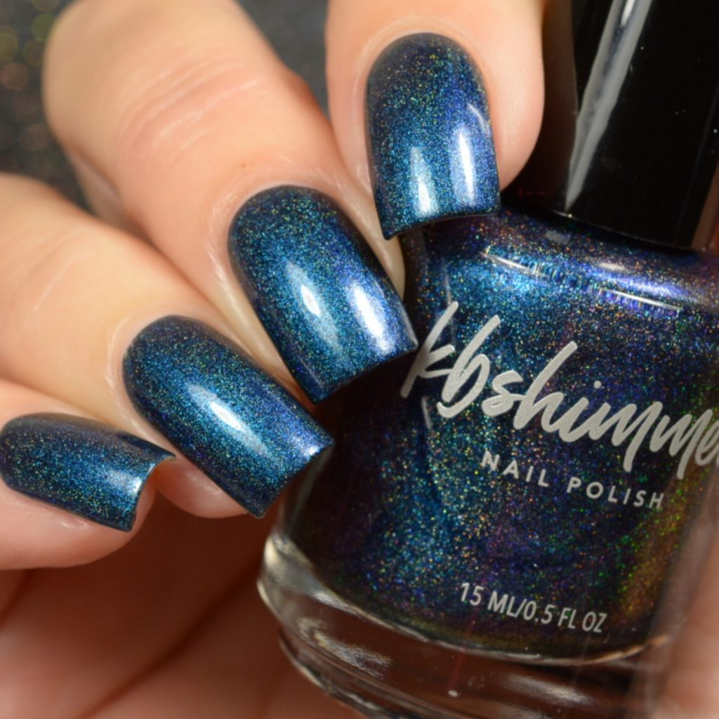 KBShimmer If You've Got It, Haunt It navy holographic nail polish Up & Autumn Collection