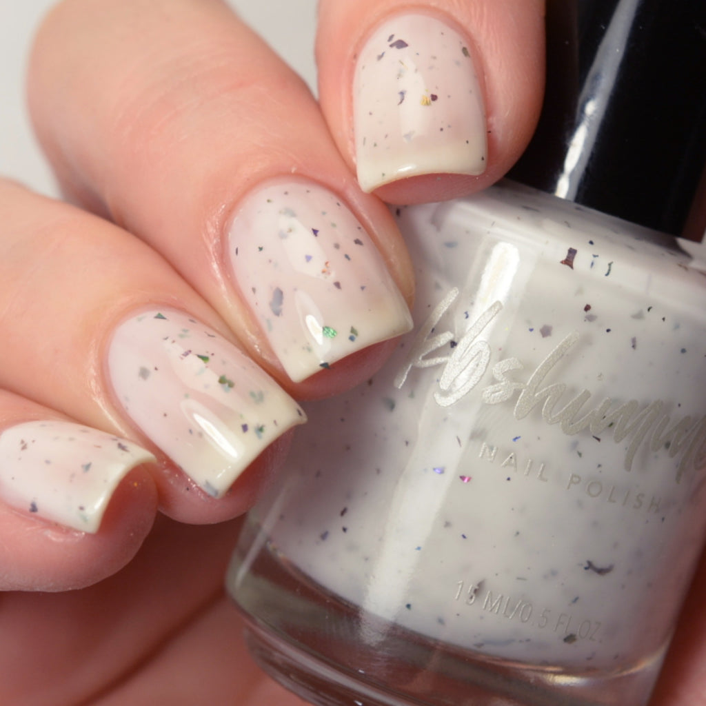 KBShimmer Knot Today white crelly nail polish swatch Beach Break Collection