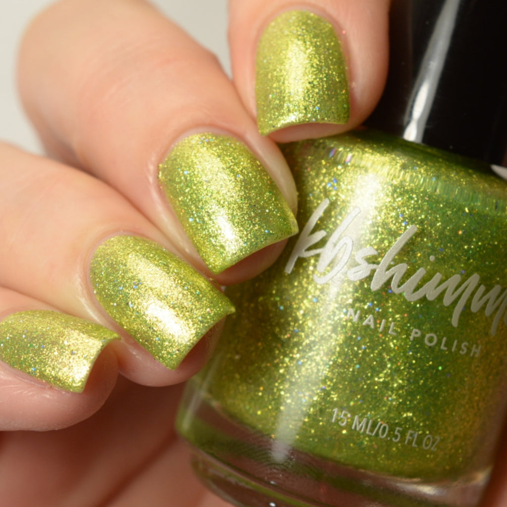 KBShimmer Turtley Awesome green metallic shimmer nail polish swatch Beach Break Collection