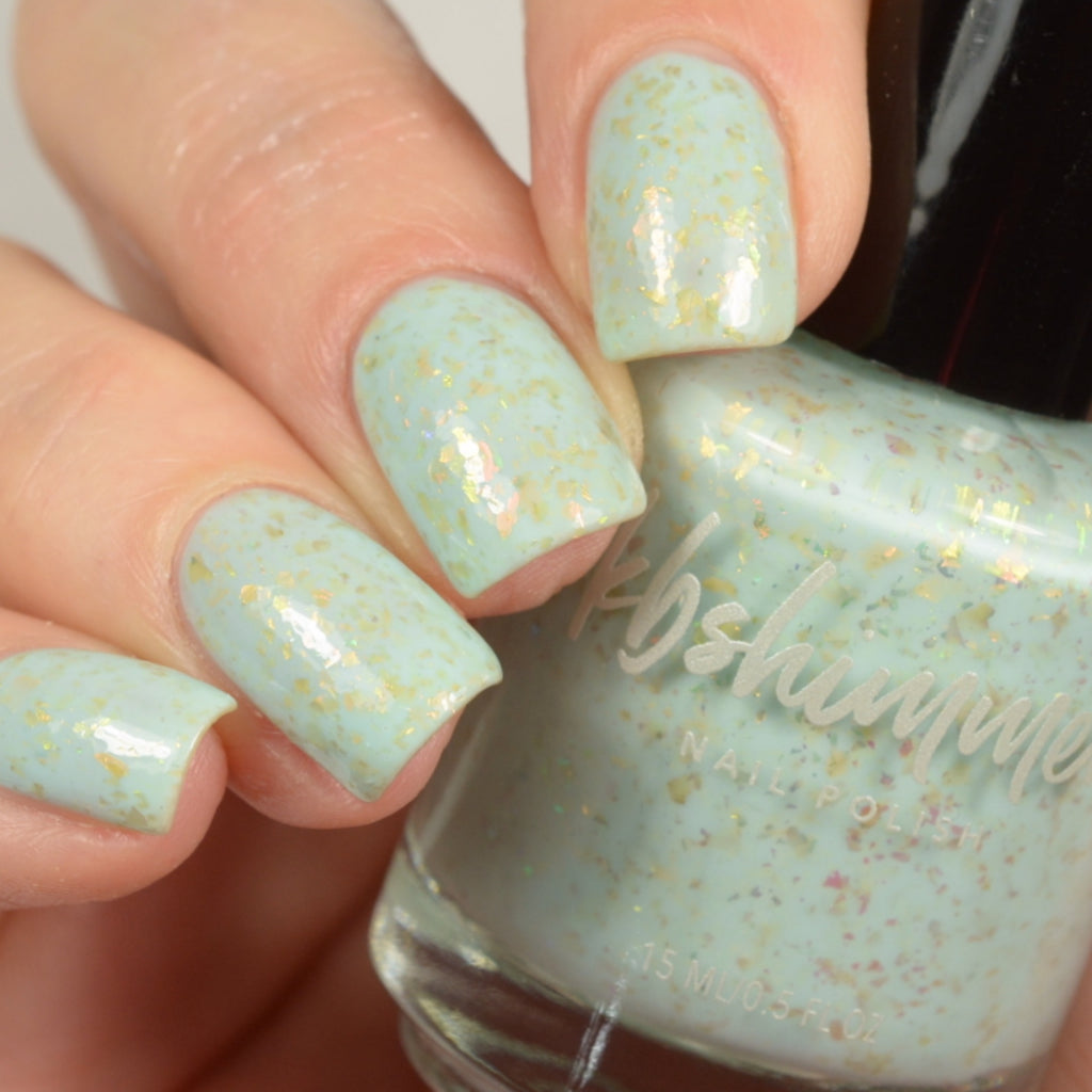 KBShimmer Water Relief sea-foam crelly nail polish swatch Beach Break Collection