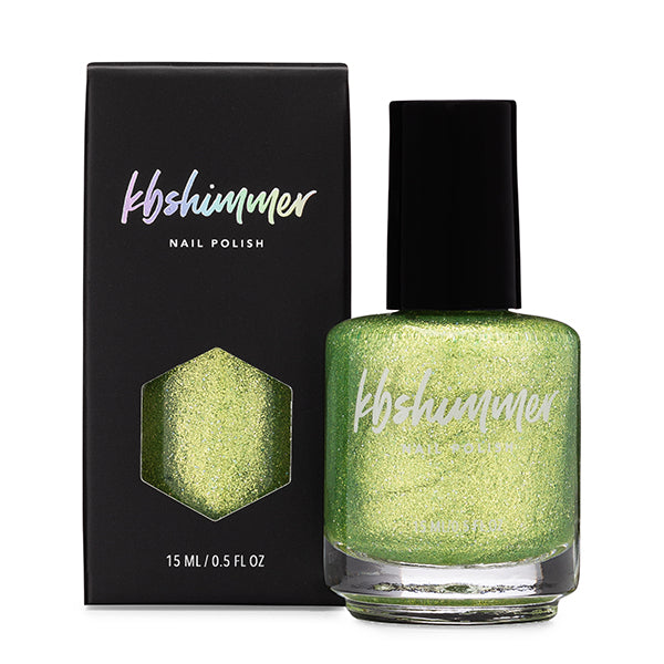 KBShimmer Turtley Awesome green metallic shimmer nail polish