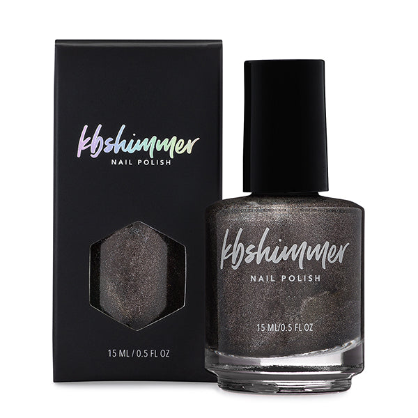 KBShimmer Twist & Stout black-brown holographic nail polish Up & Autumn Collection