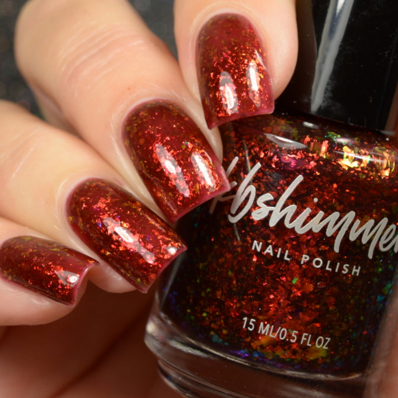 KBShimmer Free Fallin flakie jelly nail polish Up & Autumn Collection
