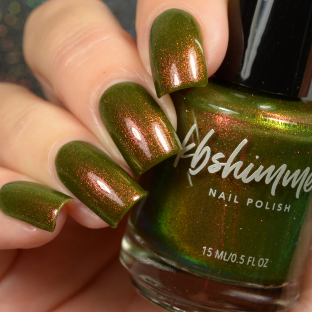 KBShimmer Having A Gourd Time green shimmer nail polish Up & Autumn Collection