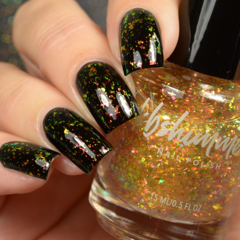 KBShimmer Rakin It In flakie nail polish Up & Autumn Collection