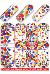 Colourful Confetti Water Slide Decal